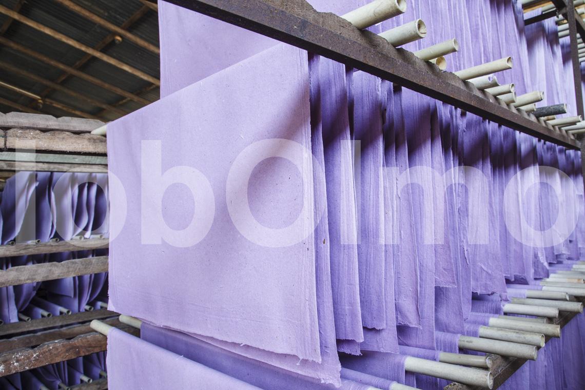 Trocknen der Papierbögen